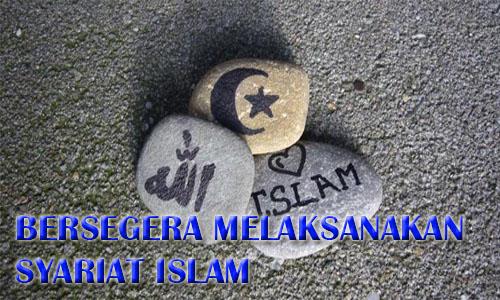Bersegera Melaksanakan Syariat